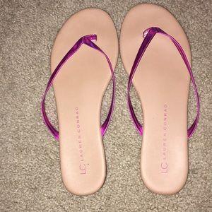 LC Lauren Conrad flip flops